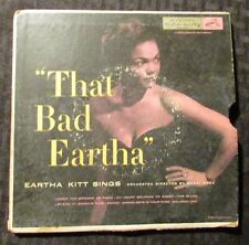 "1954 Eartha Kitt - That Bad Eartha 2x 7"" GF Mono VG+/GD+ RCA Victor ‎– EPB 3187"