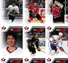 2013 13/14 UD TEAM CANADA COMPLETE BASE SET WITH SPS (200) GRETZKY ROY ORR 1-200