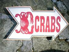 CRABS ARROW Rustic Wood Sign Beach Tropical Ocean Seaside Seafood Nautical Decor
