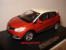 NOREV RENAULT CAPTUR BICOLORE ORANGE ARIZONA TOIT IVOIRE 2013 au 1/43°