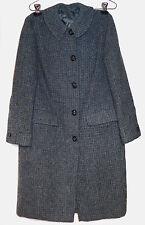 Vintage Ladies Harris Tweed Blue Gray Coat - VGC
