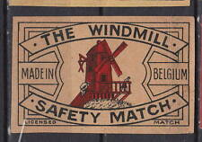 Ancienne étiquette   allumettes  Hollande    A647   Moulin
