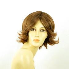Perruque femme courte Châtain Cuivré Méché Blond Clair LISA 6BT27B