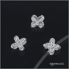 Sterling Silver Stardust Cross Spacer 5mm 50PC #51452