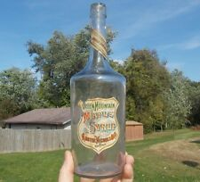 GREEN MOUNTAIN MAPLE SYRUP AUSTIN NICHOLS & CO NY 1880s QUART BOTTLE W/LABELS