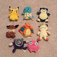 HASBRO POKEMON VINTAGE 1998 PLUSH BEANIE STUFFED LOT OF 8