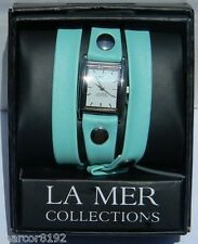 Wanderlust by La Mer Collections Watch Women Wristwatch Triple Wrap Mint new