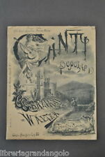 Musica Spartiti Canti Popolari Lettera Amore Serenata Fontana 1886