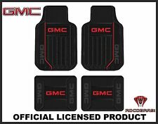 4PC GMC Elite Front & Rear Rubber Floor Mats With Logo Fast Same Day Shipping