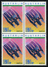 1987 Achievements in Technology Robotics Block of 4 MUH Mint Stamps Australia