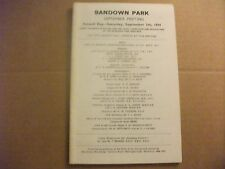 SANDOWN RACE CARD ~  7TH SEPTEMBER 1974 ~ THE WILLIAM HILL TROPHY & PAT EDDERY