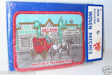 Winthop Wa Washington Collector Souvenir Iron-on Patch Stagecoach Old West