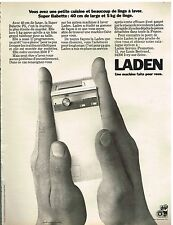 "Publicité Advertising 1974 La machine à laver ""Babette"" de Laden"