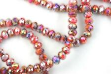 """16"""" Str. 8mm Chinese Crystal Glass Beads Faceted Rondelle Red Blue Mixed Agates"""