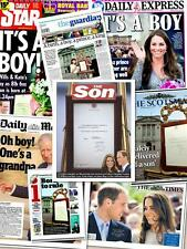 Prince William And Kate Middleton Birth Of Royal Baby UK Newspaper Bundle Set