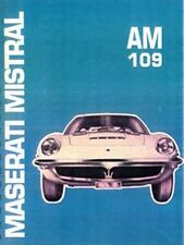 MASERATI Mistral shop manual book paper car