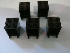 Lego 5 coffres noirs set 6900 1376 7034 7776 / 5 black containers