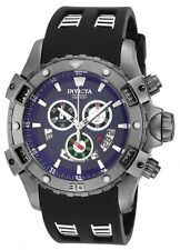 New Men's Invicta 15860 Specialty Swiss Chronograph Blue Dial Black Poly Watch