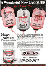Japanese Paper Lanterns ROGERS BRUSHING LACQUER Oriental Can 1926 Print Ad