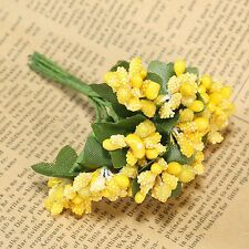 1Bunch Artificial Flower Berry Leaf Wedding Bouquet Home DIY Floral Craft Decor