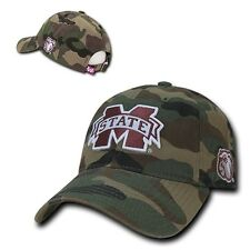 Mississippi Miss State Bulldogs Cotton Polo Style NCAA Baseball Camo Cap Hat