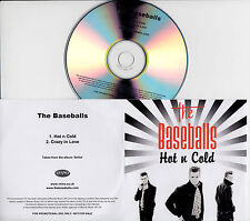 THE BASEBALLS Hot N Cold UK 2-trk promo test CD