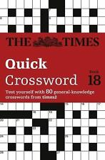 The Times Quick Crossword Book 18 (The Times 2 Crossword), HarperCollins UK