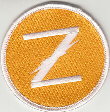 """VAQ-130 ZAPPERS YELLOW """"Z"""" SHOULDER PATCH"""
