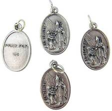 "MRT Lot Of 4 St Blaise Catholic Saint Holy Medal Silver Plate Gift 3/4"" Italian"