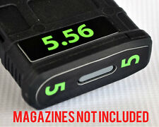 5.56 MAGAZINE STICKERS fits MAGPUL PMAG 30 GEN M3 AR15-M16-M4 LIME NUMBERS 1-6
