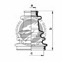 Renault 9, 11, 16, 18, 21 (73-96) Pair of Outer CV Rubber Boot Kits Veco VH 5245