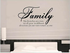 Home Decorative Decal Art Vinyl Quotes Wall Sticker Proverbs Family Wallpaper