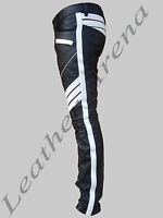 GENUINE LEATHER Men's TIGHT FIT PANTS JEANS TROUSERS