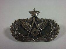 Brustabzeichen Senior Civil Engineer Metall altsilber USAF