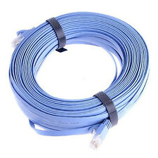 30M 100FT RJ45 CAT6a Cat6 Flat Ethernet Patch LAN Network Cable Wire Cord Blue B