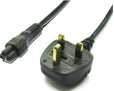 MAINS POWER CLOVER LEAD/CABLE UK 3-PIN PLUG FOR LAPTOP