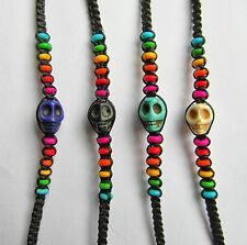 Rainbow  Coloured  Skull  Wristband  Bracelet  !!      Brand  New !!