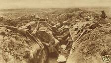 British Army Infantry Resting In Trench World War 1, 7x4 inch Reprint Photo