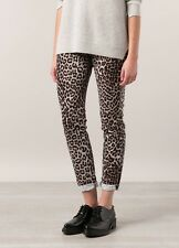 NWT $198 RAG & BONE Boyfriend Jeans Snow Leopard  Animal Print Wash - Sz 28