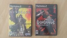 Gungrave & Gungrave: Overdose PlayStation 2 US Ver COMPLETE TESTED GREAT SHAPE!