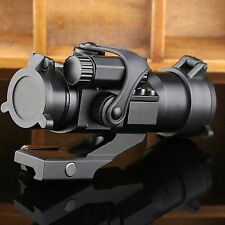 Tactical 1x32 Red Green Dot Scope Sight for Rifle Picatinny Weaver Rail Mount