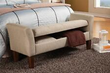 Storage Ottoman Bench in a Woven Tan Fabric by Coaster 500076