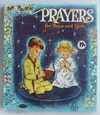 Tell a Tale Book PRAYERS for Boys and Girls Vintage NEW Old Stock 1957 Whitman