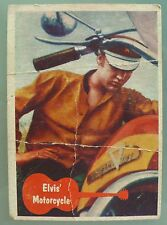 VINTAGE 1956 TOPPS BUBBLES ELVIS PRESLEY TRADING CARD # 25 NOT GRADED