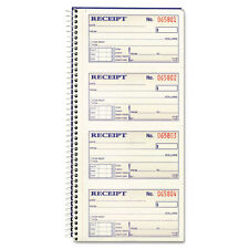 Adams Two-Part Rent Receipt Book, 2-3/4 x 5-1/4, Two-Part Carbonless, 200 Forms