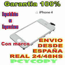 PANTALLA TACTIL PARA IPHONE 4 4G MARCO CRISTAL TOUCH SCREEN BLANCO NUEVA A+