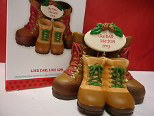 2013 HALLMARK Like Dad Like Son Boots Ornament new in Box