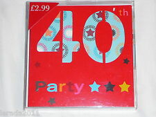 40TH BIRTHDAY PARTY INVITES INVITATIONS CELEBRATION PARTY UNISEX   PACK 10
