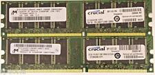 2 GB (2x1 GB) de baja densidad Ddr Pc3200 Ddr-400 sin Ecc 400 Mhz 184 Pin Cl3 Pc3200u