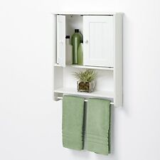 Bathroom Wall Mount Over Medicine Cabinet Toilet Storage Shelf Organizer White
